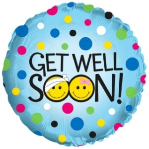 get well soon helium balloon delivery